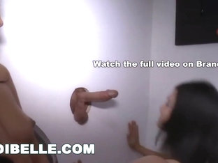 BRANDI BELLE - Sucking Randoms Cocks In Glory Hole With My Friend Amia Miley