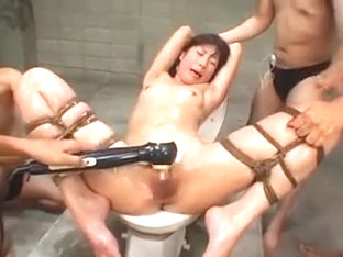 Helpless Babe Gets Tied Up, Pleased With Sex Toys And Cover