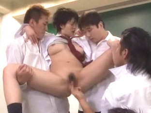 Hottest Japanese chick Megu Fujiura in Exotic Cougar, Gangbang JAV movie