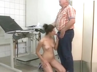 Filthy Old Russian Gynecologist Fucks Teen
