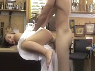 Real jilted bride sucks in pawn shop