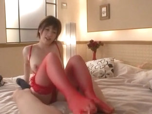 Exotic Japanese chick Saki Okuda in Amazing Amateur, Stockings JAV clip