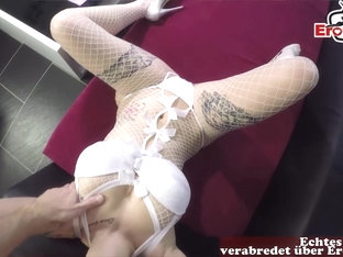 german big tits tattoo babe in white dress homemade cum swallow