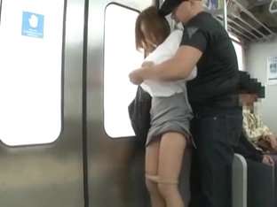 Inviting hottie groped and drilled by excited passengers