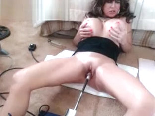 Hot Squirting Granny With Fuck Machine