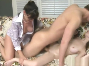 Alexandra Silk And Victoria Volt Nasty Threesome Action