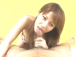 Best Japanese whore Aki Yatou in Horny POV, Blowjob/Fera JAV clip