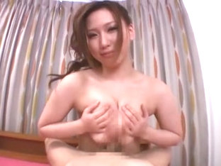 Horny Japanese whore Ai Sayama in Incredible Handjobs, POV JAV video