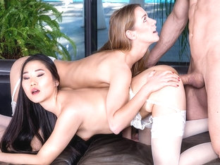 The Asian Katana Has A Threesome With Alexis Crystal - Private