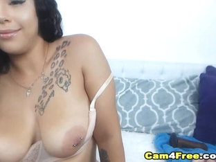 Hot Ebony Suck Her Toy Deep Before Fucking Her Pussy