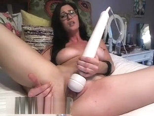 A Dark Haired Babe Gets Filled With Plastic