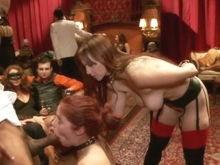 Masquerade Orgy with Nine Slaves 100 Horny Guests Part Two