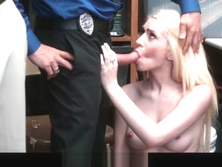 Shoplyfter- Teen Thief Fucked While Dad Watches