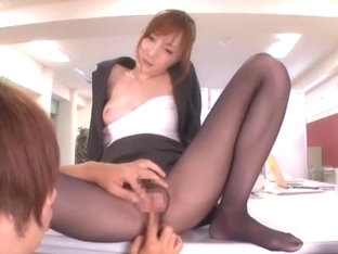 Amazing Japanese girl Kaede Fuyutsuki in Crazy Stockings JAV movie