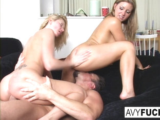 Avy Scott  Alexis Malone in Avy Scott, Alexis, And Van Damage All Get Some Intense Orgasms - AvySc.