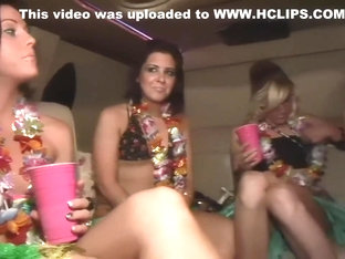 Group Of Young Babes Strip In Limo - DreamGirls