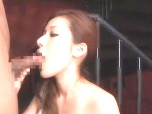 Horny Japanese model Emi Orihara in Crazy Blowjob/Fera, Threesomes JAV clip