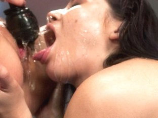Crazy fetish adult video with incredible pornstars Kristina Rose and Gia DiMarco from Fuckingmachi.