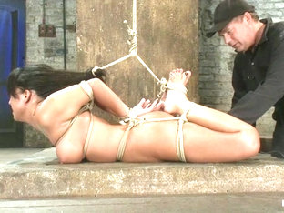 Sexy Hawaiian Brutally HogTied Suffering Orgasm After Orgasm Until She Is Lying In Her Own Squirt..