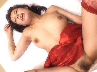 Hottest Japanese girl Kyouko Maki in Crazy Lingerie, Stockings JAV clip