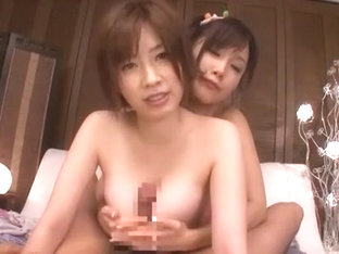 Incredible Japanese model Saki Okuda, Minami Kojima in Fabulous Big Tits, POV JAV video