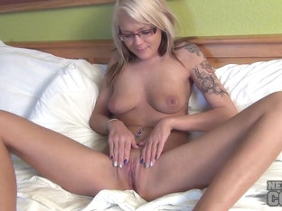 Blonde Aaliyah Back Using Her Own Favorite Dildo from Home then Fooling Around Naked Bible Reading.
