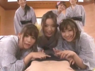 Hottest Japanese whore Megu Fujiura, Risa Kasumi, Ai Haneda in Incredible Babysitters, Strapon JAV.