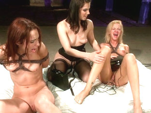 Amber Rayne  Kaylee Hilton  Bobbi Starr in Give Me The Pleasure. Give Them The Pain. - Electrosluts