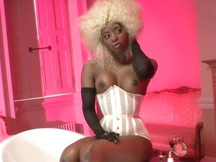 Ebony babe and white chick served by a hard dick