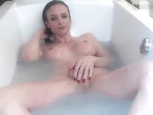 german milf shemale masturbated and smoked in the bathtub