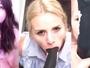 Cum for Girls Playing with Huge, Fake Horse Dildos