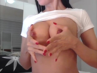 Perfect Tits Perfect Cheerleader Masturbating P1