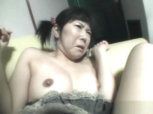 Japanese mature in socks gets her pussy shaved at home