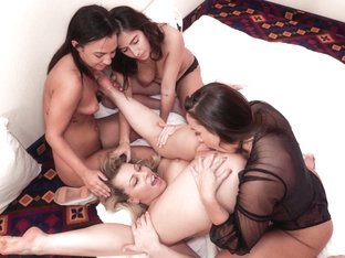 Abigail Mac,Amara Romani,April ONeil,Zoey Monroe in Sisters #04, Scene #03 - GirlfriendsFilms