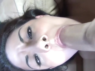 Coco Valentina receives a messy facial