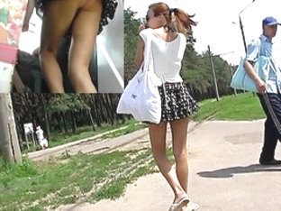 The neverseen windblown upskirt on sexy clip
