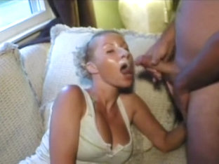 Buxom blond gets blasted wit...