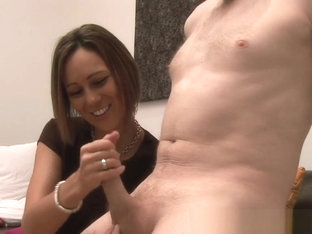 British Cfnm Domina Pulling And Wanking Dick