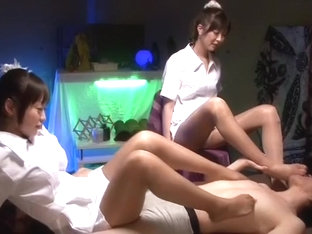 Crazy Japanese girl Kotone Amamiya, Yuu Shinoda, Sae Aihara in Exotic Footjob, Foot Fetish JAV vid.