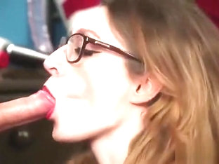 Naughty Bombshell Gets Jizz Load On Her Face Eating All The