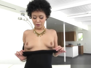 Ebony Chick Mia Austin Pussy Stuffed On Couch