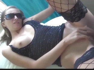 hot college girl takes cumshot on pussy after anal sex on balcony