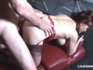 Baldy loves to fuck a passionate milf beauty