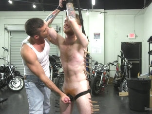 Lance Hart & Seamus O Reilly in Hot Biker Stud Captures A Hung Ginger And Mercilessly Fucks His Ho.