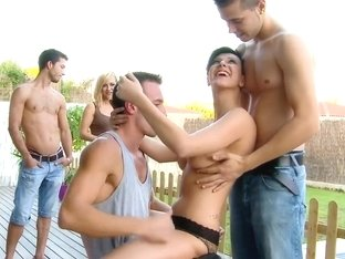 Emylia Argan in Backyard Double Penetration