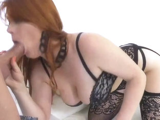 naughty redhead gives her construction worker a good fuck