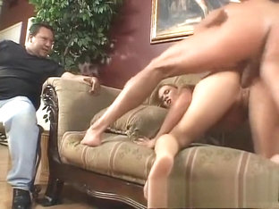 Hot blonde with a perfect ass fucks a stranger and her husband watches