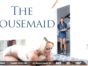Carolina Abril & Juan Lucho & Sienna Day in The Housemaid - VirtualRealPorn
