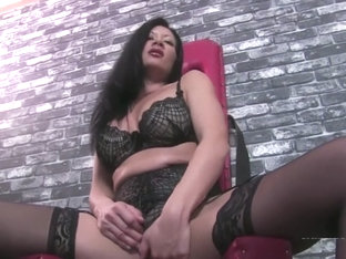 Sounding of slave in chastity pissing in his mouth by goddess