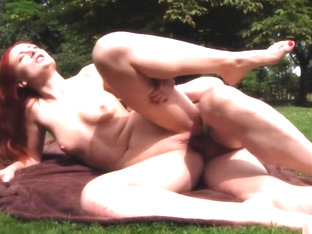 Crazy pornstar Eva Berger in horny outdoor, redhead xxx clip